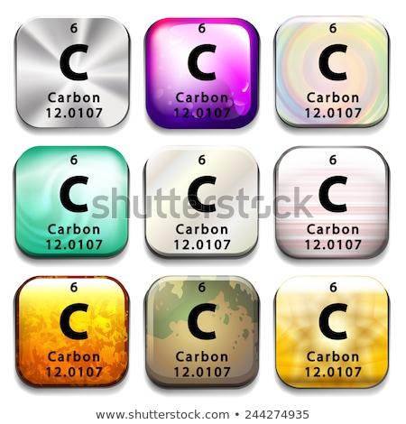 周期表 カーボン 白 教育 化学 ストックフォト © bluering