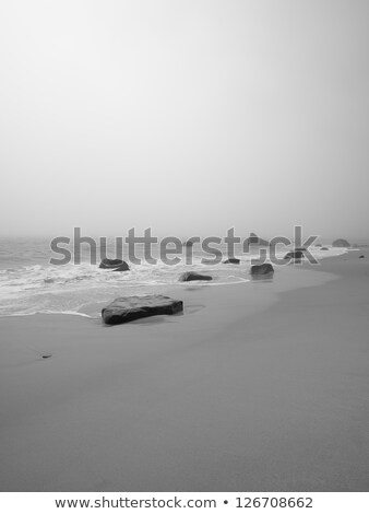 calm day over the white rocks stock photo © morrbyte