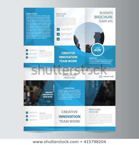 polygonal trifold brochure design illustration Stock photo © SArts