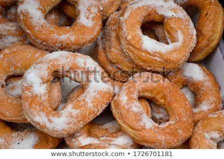 Eigengemaakt donuts groot een groter honger Stockfoto © Peteer