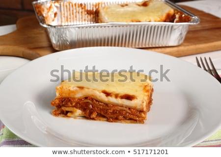 ラザニア パン 両方 クリーン 皿 ストックフォト © Digifoodstock