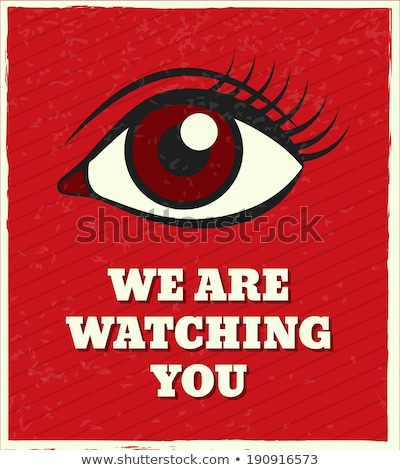 Eyeball is watching you. Stock photo © klss