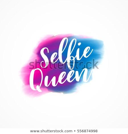 Königin Text Wasserfarbe Tinte Wirkung Wasser Stock foto © SArts
