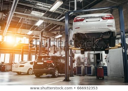 автомобилей службе станция обслуживание мелкий автомобилей Сток-фото © Phantom1311