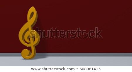 altın · 3D · örnek · yalıtılmış - stok fotoğraf © drizzd