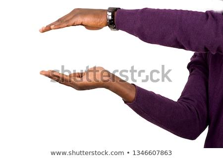 close up of businessman holding something on hand Stock photo © dolgachov