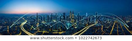 Globális hálózat kapcsolatok digitális űr üzlet Stock fotó © alexaldo