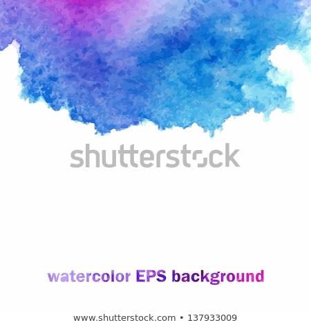 elegante · azul · acuarela · pintura · agua · textura - foto stock © sarts