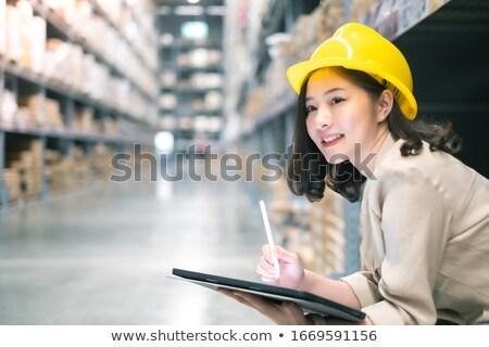 atraente · jovem · empresária · dedo · para · cima · negócio - foto stock © lightfieldstudios