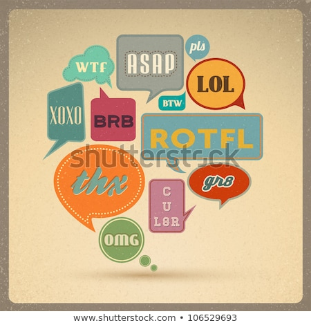 Most common used internet acronyms on comics style colorful spee Stock photo © pashabo