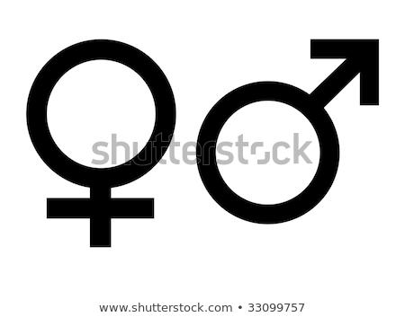 gender symbol over white background Stock photo © blotty