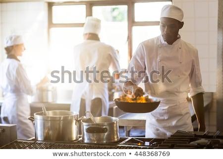 şef · meze · yemek · restoran · mutfak · gıda - stok fotoğraf © wavebreak_media