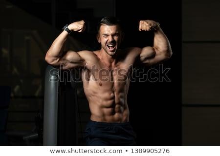 Półnagi człowiek mięśni crossfit siłowni Zdjęcia stock © wavebreak_media