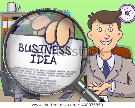 fresh solutions through magnifier doodle design stock photo © tashatuvango