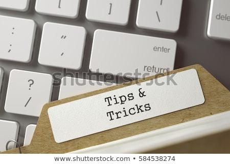 File Card with Inscription Solutions. 3D. Stock photo © tashatuvango