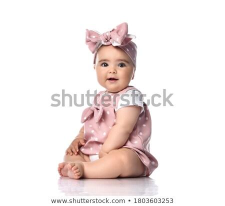 Opgewonden baby kruipen kind leuk Stockfoto © IS2