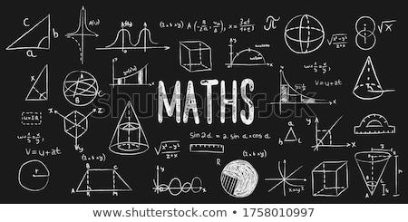 Nauczyć geometria gryzmolić ikona Tablica Zdjęcia stock © tashatuvango