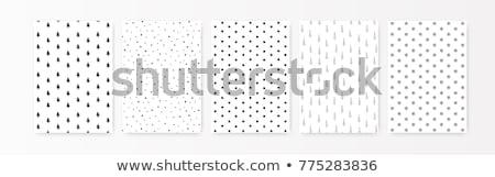 Christmas patroon zwarte collectie star Stockfoto © ElaK