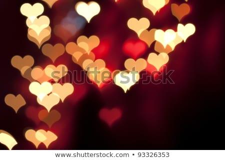 Resumen corazones luces vacaciones San Valentín Foto stock © alexaldo