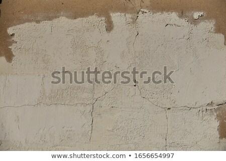 kırık · sıva · duvar · gri · doku - stok fotoğraf © 5xinc