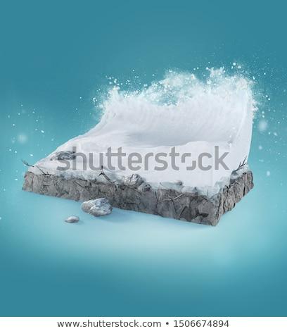 Abstrato congelada ondas ilustração 3d água saúde Foto stock © anadmist