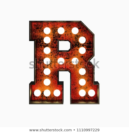 Letter R 3D Broadway Style Stock photo © creisinger