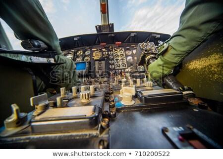 армии · самолета · белый · иллюстрация · небе · дизайна - Сток-фото © bluering