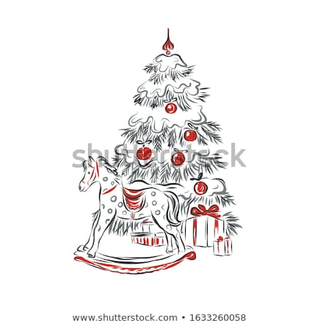 Children playing in snow with presents Stock photo © IS2