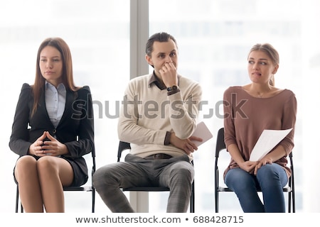 Two businesswomen in waiting room Stock photo © IS2