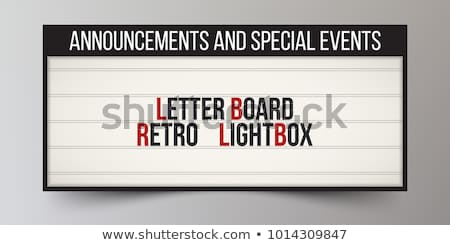 Vector retro signboard or lightbox illustration with customizable design on brick wall background. C Stock photo © articular