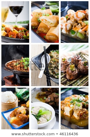 Chinese food with rice and veggies Stock photo © BarbaraNeveu