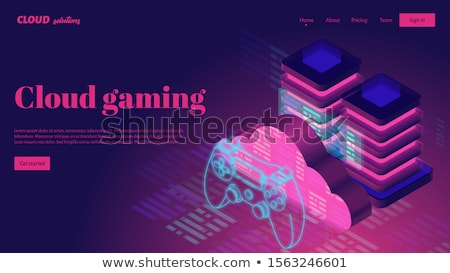 cloud gaming concept vector illustration stock photo © rastudio