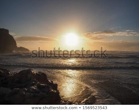 風景 日没 ポルトガル 表示 美しい 海 ストックフォト © joyr