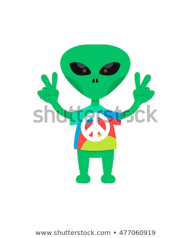 Cartoon Alien UFO Love Stock photo © cthoman