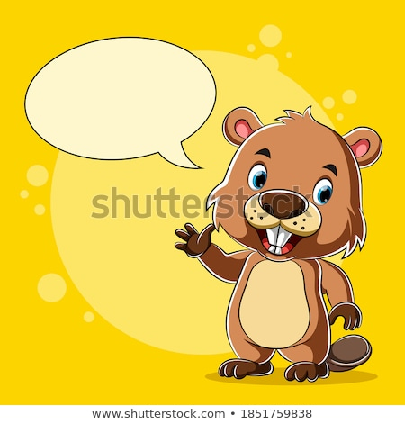 Cartoon Otter Talking Stock photo © cthoman