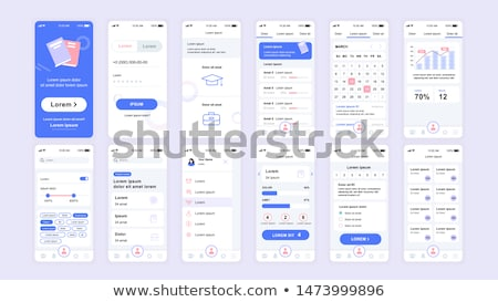 Flat design educational app screens. Modern user interface UX, UI screen template for mobile smart p Stock photo © makyzz