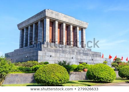 Tapınak edebiyat Vietnam detay bitkiler Stok fotoğraf © boggy