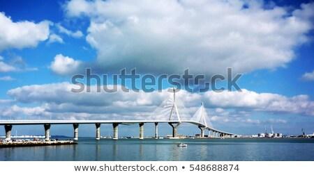 La brug stad Blauw reizen skyline Stockfoto © benkrut