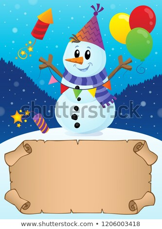 Small parchment in winter party theme 2 Stock photo © clairev