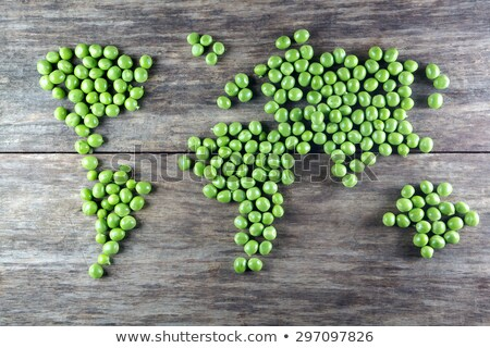 Rauw voedsel plantaardige wereld gezonde voeding kaart Stockfoto © cienpies