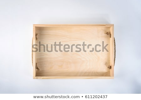Empty wooden box with compartments Stock photo © Melnyk