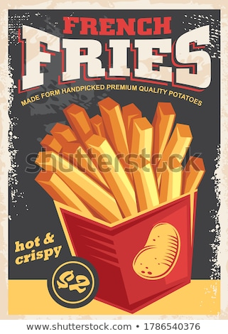Fastfood Poster French Fries Vector Illustration Stock photo © robuart