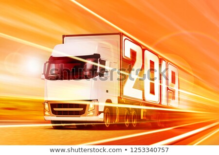 truck 2019 moving at night stock photo © ssuaphoto