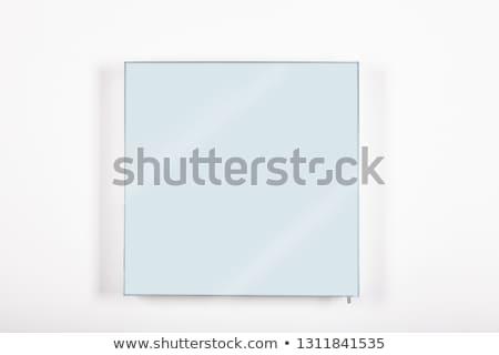 Foto stock: Banheiro · espelho · isolado · branco · dois · líquido