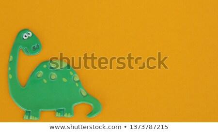 динозавр · границе · иллюстрация · дизайна · шаблон - Сток-фото © colematt