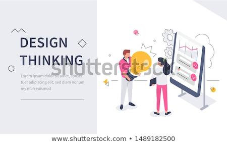 New idea engineering concept landing page. Stock photo © RAStudio