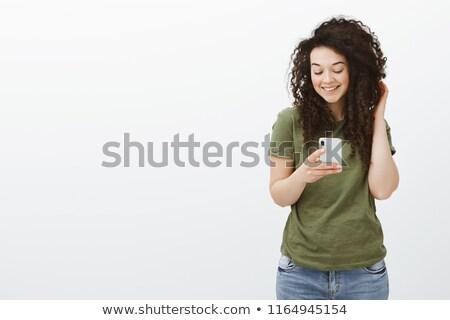 bastante · glamour · mulher · caucasiano · sensual · laranja - foto stock © deandrobot