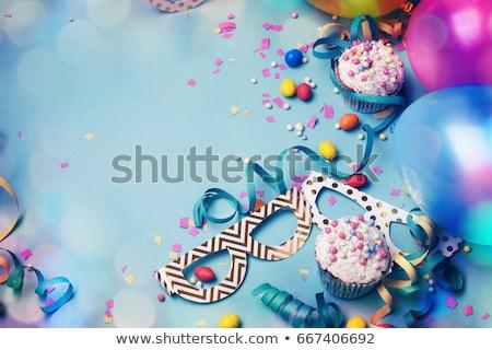 Carnevale festa di compleanno confetti palloncini lucido stelle Foto d'archivio © Lana_M