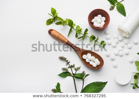 Homeopáticos medicina verde médico fundo garrafa Foto stock © Imaagio