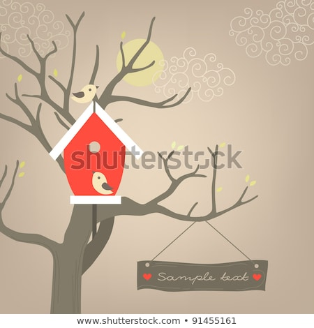 üst · ağaç · gökyüzü - stok fotoğraf © oneo